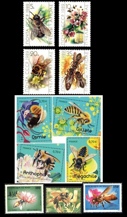 Les timbres et les abeilles